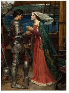 """Tristram and Isolde"", pintura de John William Waterhouse (1916)"